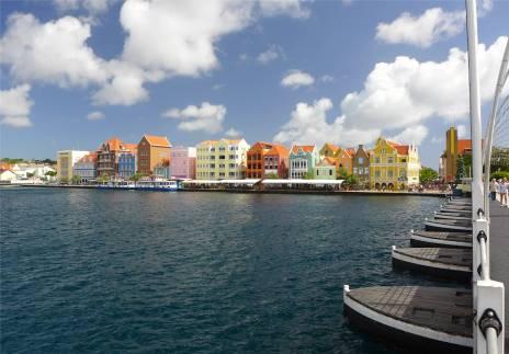 Curacao Willemsstads berühmte Waterfront