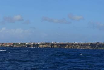 Curacao hat eine Steilküste