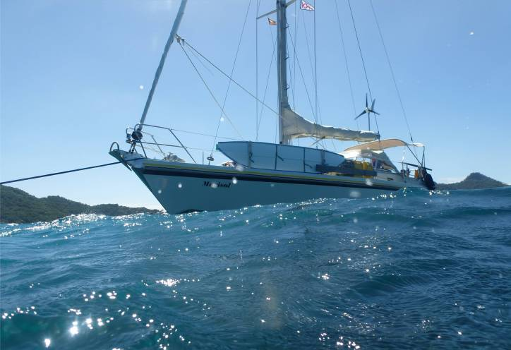 Carriacou Sandy Island Mari an der Boje