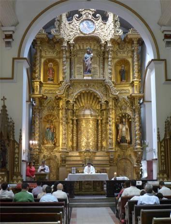 Panama Altstadt der goldene Altar