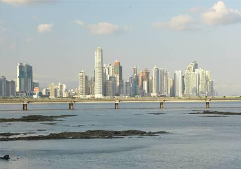Panama Blick auf die moderne Stadt