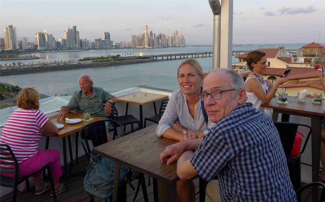 Panama vom Dach der Blick ueber die Stadt