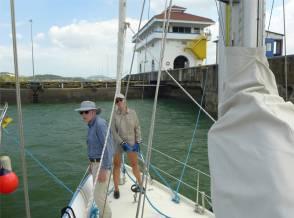 Panamakanal in der Miraflores Schleuse
