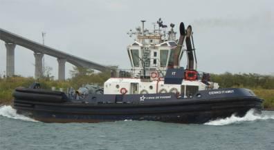 Panamakanal knuffige Schlepper