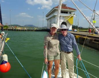 Panamakanal Otti und Inga am Tor zum Pazifik