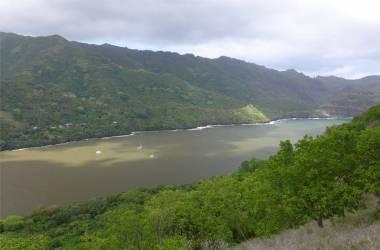 FP Nuku Hiva Hapakaa Blick vom Aussichtspunkt