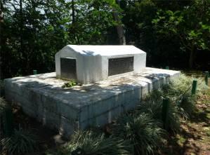 Samoa Apia das Grab von RLS auf dem Gipfel