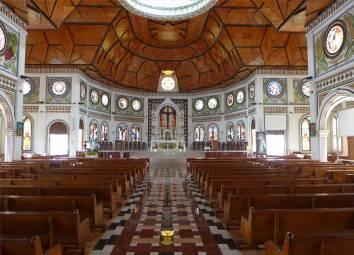Samoa Apia die Kathedrale von innen