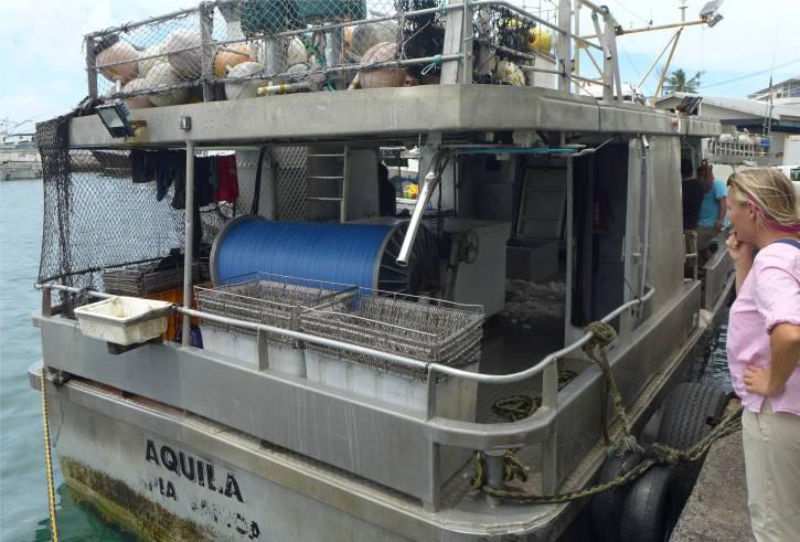 Samoa Apia Fischer mit Langleine und ganz viele Haken