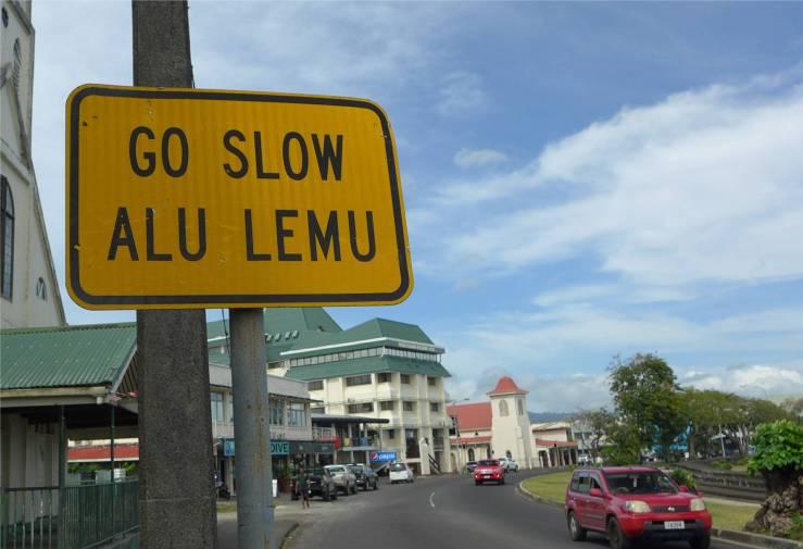 Samoa Apia Go slow fuer alles andere ist es zu warm