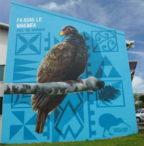 Samoa Apia huebsch Wand und Vogel