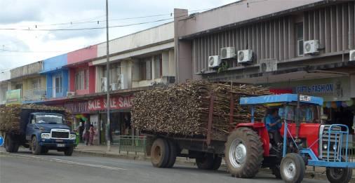Fiji Labasa alles Zucker Zockerrohr auf dem LKW
