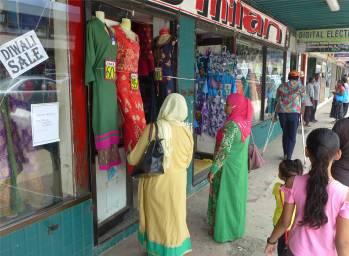 Fiji Labasa Einkaufsstrasse