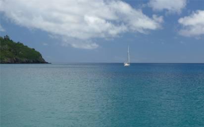 Fiji Makogai ganz schoen weit draussen unsere kleine Mari