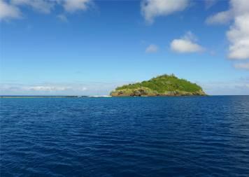 Fiji Makogai Inselchen hinterm Heck