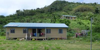Fiji Makogai Zyklon Winston hat die Haeuser zerstoert deshalb gibt es lauter neue Hauser