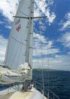 Fiji Marisol Ausnahmsweise nur unter Vorsegel