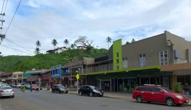 Fiji Savusavu die Hauptstrasse