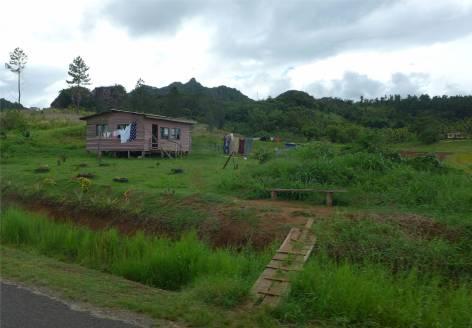 Fiji Vanua Levu ein kleiner Hof