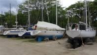 Fiji Vuda Marina Boote im Cyclone Pit