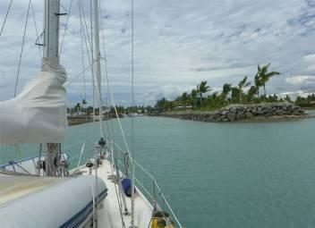 Fiji Vuda Marina in der Einfahrt