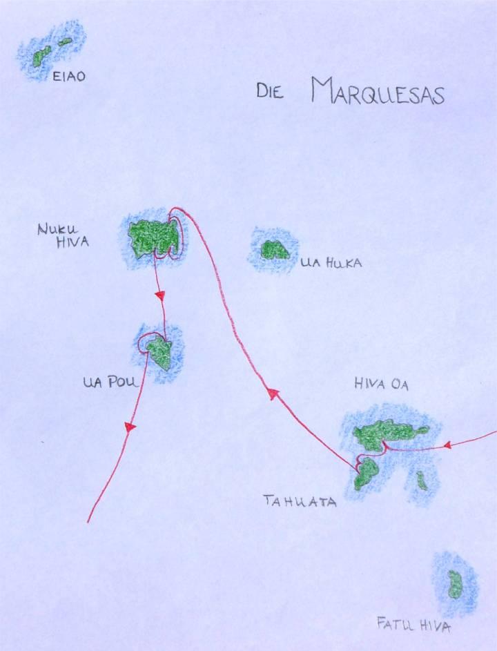 Karte Marquesas