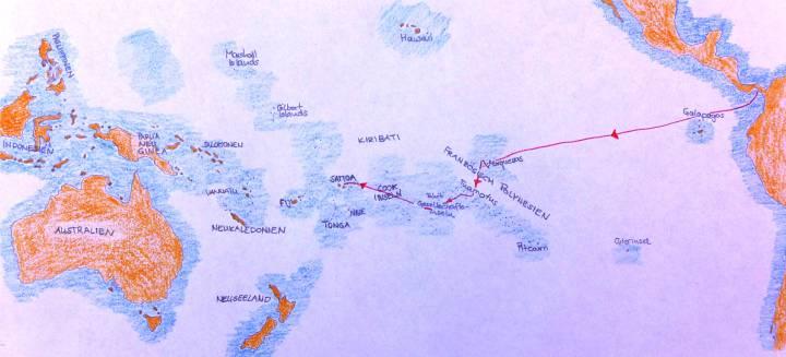 Karte Panama bis Samoa