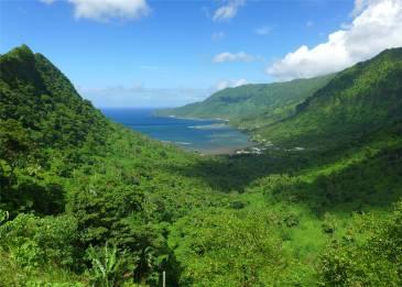 Samoa Blick auf die Nordkueste