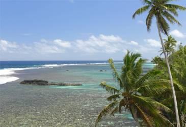 Samoa Blick ueber das Riff