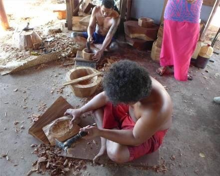 Samoa Cultural Village Schnitzereien