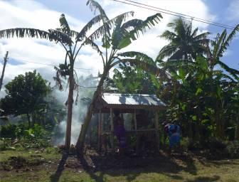 Samoa das offene Haus in seiner kleinsten Form