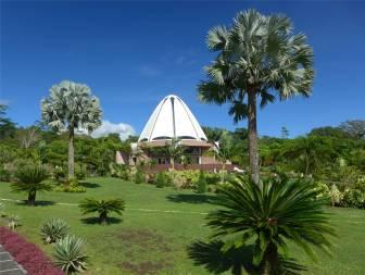 Samoa der Bahai Tempel liegt in einem schönen Garten