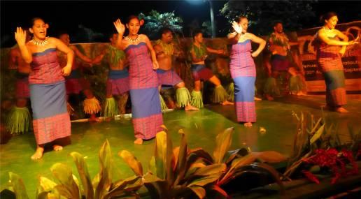 Samoa die Frauen anmutig