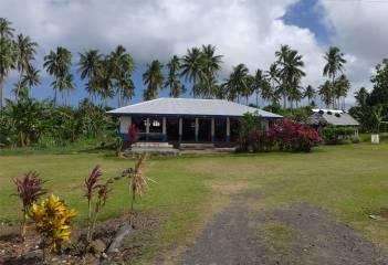 Samoa ein Haus auf dem Land