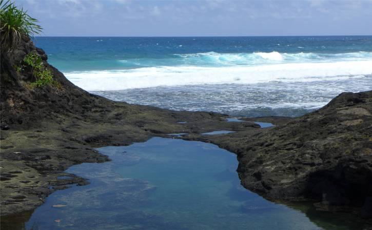 Samoa ein huebscher Naturpool