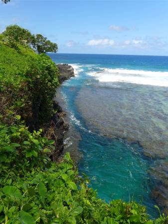 Samoa ein Riss im Riff