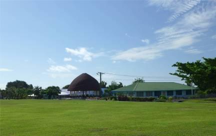 Samoa Haus mit traditionellem Dach
