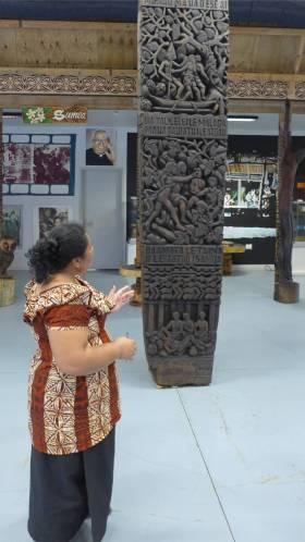 Samoa Kunst College die Abschlussarbeit zeigt wie die Taetowierung von Fiji kam