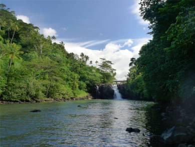 Samoa noch ein kleiner Wasserfall zum Abschluss