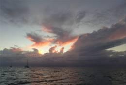 Fiji Musket Cove Gewitter sieht man am liebsten aus der Ferne