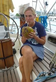 Fiji Vuda diese Kokosnuss hat sich lange gewehrt und Nobbis Messer auf dem Gewissen