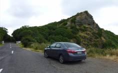 NZ Banks Halbinsel unser Mietauto hat brav an jedem Aussichtspunkt gewartet