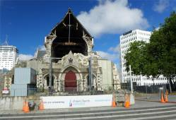NZ Christchurch die zerstörte Kathedrale