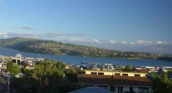 NZ Dunedin Bild aus unserem Bett