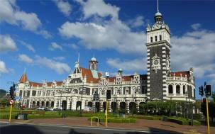NZ Dunedins Sahneschnittchen der Bahnhof