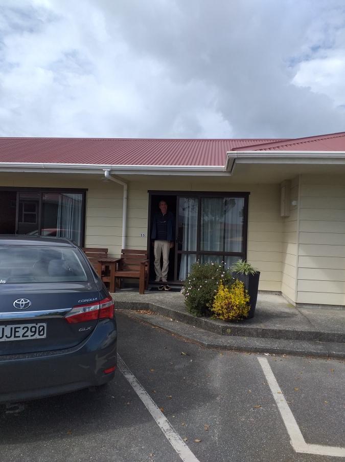 NZ Hütte auf dem Campingplatz