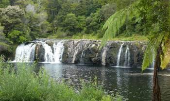 NZ Kerikeri ein kleiner Wasserfall
