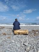 NZ Nobbi morgens am Strand