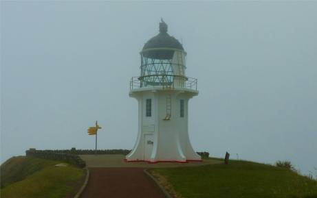 NZ Northland Cape Reinga im Nebel