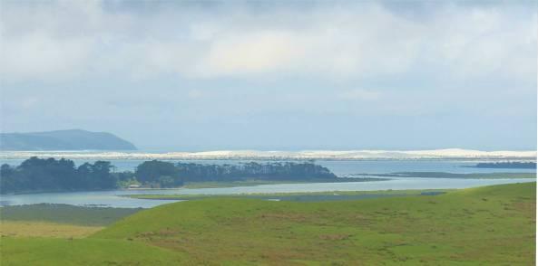 NZ Northland im Hintergrund die Duenen